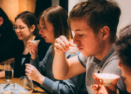 Sake and food pairing with a sommelier
