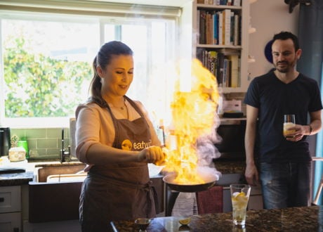 Authentic Greek Cooking Class with a Cookbook Author