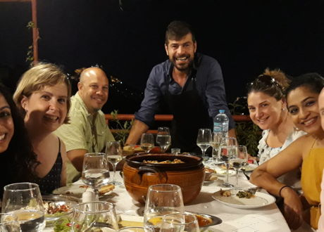 A Greek feast with an Acropolis view